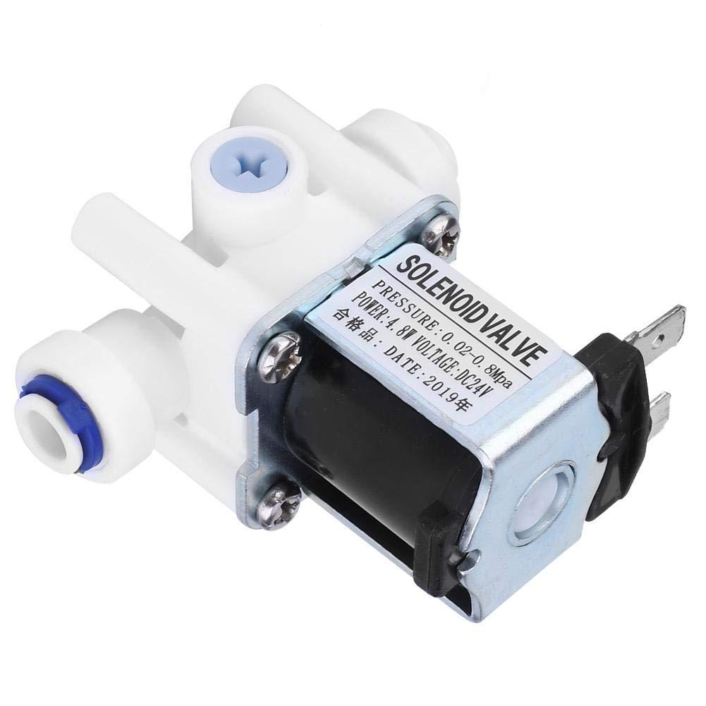 6.5mm Electric Solenoid Valve DC24V Electric Solenoid Valve1//4 Port Adjustable Waste Water Ratio 300 for RO
