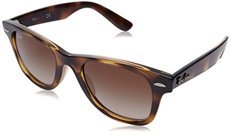 Bundle: Ray-Ban RJ9066S Junior Wayfarer Havana/Brown Gradient 47mm & Carekit by Popular Sunglasses
