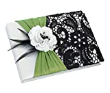Lillian Rose Wedding Ceremony Green and Black Guest Book GB750