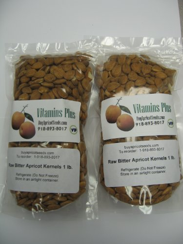 Apricot Kernels (Seeds) 2 X 1lb Bag (Resealable) Raw and (Apricot Seed)