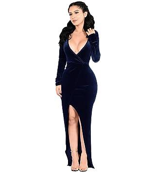 Vestido De Fiesta De Navidad,Azul marino,XXL