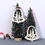 MomeWooden Pendant1PC Wooden Ornaments✸for Wedding Party/Birthday Party/Christmas Decorations - DIY Gift (White) (H)