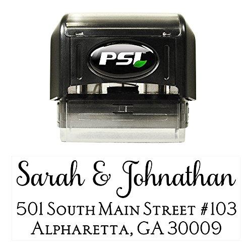 (Custom Personalized Self Inking Return Address Stamp - Great Wedding, Housewarming, or Teacher Client Gift!)