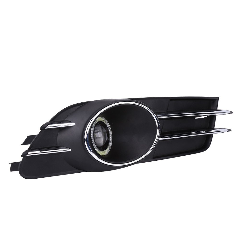 Qiilu Car Front Bumper Foglight Grille Fog Light Lamp Set for A6 C7 2011-2015
