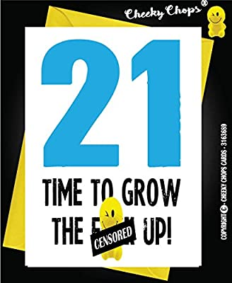 21 Funny Rude Birthday Card Son Daughter Brother Sister 21st