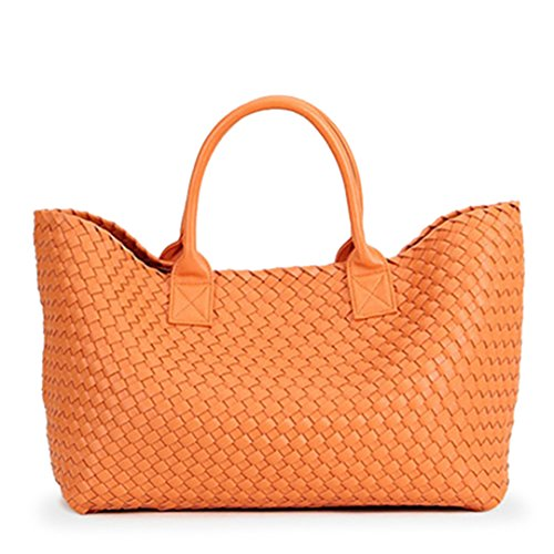 Hombro Tejidos Winter Orange Bolsos La De De Capacidad Gran De Compras Mano Orange De Cesta Bolso Tide Bales dq1wEanwI