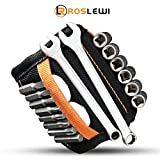 Magnetic Wristband by Roslewi - 15 Super Strong Magnets, 2 Pockets - Holding Screws, Nails, Drill Bits, Metal Tools - Best Gift Idea for Men, Women, Dad, Father, Husband, Boyfriend, Him, Her (Black)
