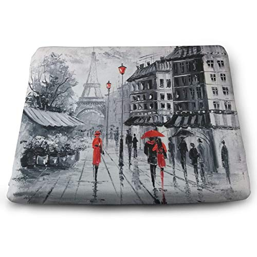 Milyla-ltd Paris Chair pad Seat Cushion with Memory Filling for Office Indoor Home Dining Kitchen ()