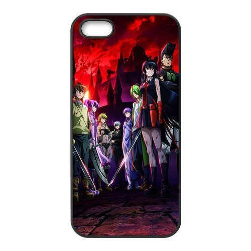 TPU iPhone 5s Case,Akame ga KILL! Design Fashion Pattern Hard Back Cover Snap on Case for iPhone 5 / 5s (Black/white)