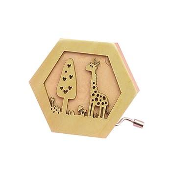 TuHao Caja de música temática, Caja Musical de Madera, Caja de Madera Antigua Tallada