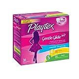 Playtex Gentle Glide Tampons, Plastic, Multi-Pack, Unscented, 18 regular/18 super 36 ct.