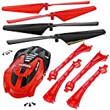 Traxxas LaTrax Alias * RED CONVERSION KIT - CANOPY - LED LENS & 4 ROTOR BLADES *
