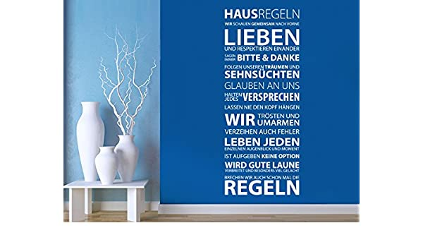 Pared Adhesivo normas de la Casa, verde menta, 40 x 100 cm: Amazon ...