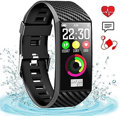 ahanzhu DT58 Pulsera Inteligente Mujeres Banda de Ritmo Cardíaco Pantalla a Color Relojes de Pulsera Actividad Impermeable Gimnasio Rastreador ...