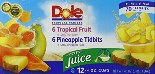 - Dole Pineapple and Tropical Fruit Salad, 4 Ounce (Pack of 12)