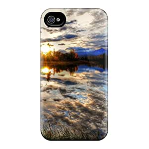 Fashion QdY4522nXNw Case Cover For Iphone 4/4s(lovely Reflection)