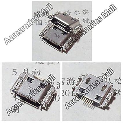 Computer Cables 2-100x for Samsung I9000 I9088 S5630C I9003 I8320 I6410 S569 I9008 I897 Micro USB Jack DC Charging Socket Connector Cable Length: 100 pcs