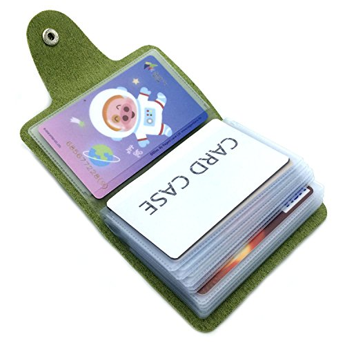 Card Card Card Women Holder Case 24 Holder Credit Card Colours 9 Slots Men Bank Green for 8qwX8x