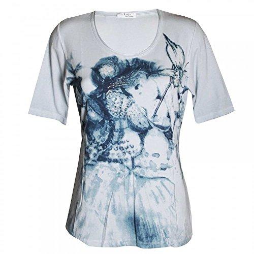 Con Stampa A Donna Grey Corte Shirt T Maniche Faber qOIwSS