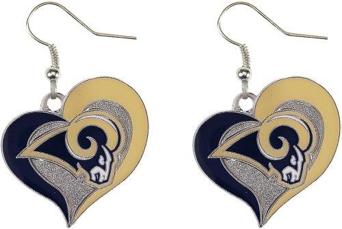 NFL Los Angeles Rams Swirl Heart Earrings