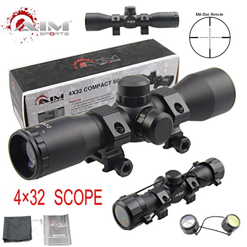 (TACFUN - AIM Tactical MIL-DOT Reticle Compact Scope/w Rings)