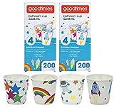 Goodtimes Bathroom Cups, 3 oz 200 ea, Assorted designs (2, Childrens)
