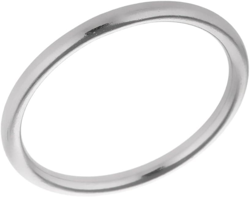 3x25mm poliert Edelstahl Rundringe Runde Ringe Edelstahlring Metall O Ring 10 St/ück Packung