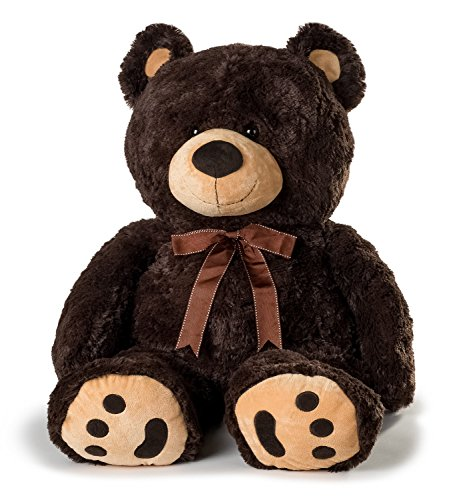 Huge Teddy Bear - Dark Brown (Big Stuffed Brown Bear)