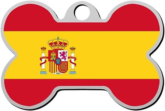 SeTag Bandera de España Etiqueta de Perro Mascota ID Etiquetas ...