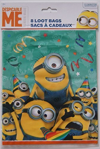 Despicable Me Minion Favor Loot Bags 8 Count
