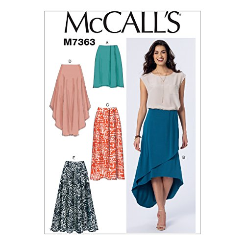 McCall's Patterns M7363 Misses' Elastic-Waist Pull-On Skirts, Size E5 (14-16-18-20-22) -