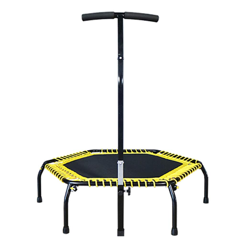 Unbekannt Lxn 44''Fitness-Trampolin, Silent Mini-Trampolin mit verstellbarem Handlauf, Perfect Urban Cardio-Training, Bungee-Seilsystem, Max. Belastung 400 lbs