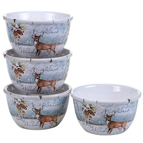"Certified International Winter Lodge  5.5"" Ice Cream Bowls,"