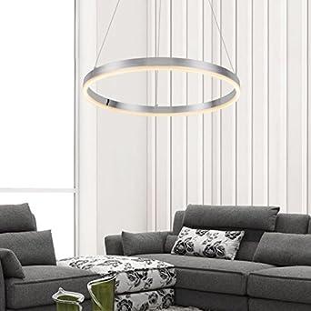 DAKYUE LED Leuchtmittel Ring Alu Rahmen Schlafzimmerlampe Rund Kronleuchter Modern Pendelleuchte Acryl Led Deckenleuchte Deckenlampe Hngeleuchte