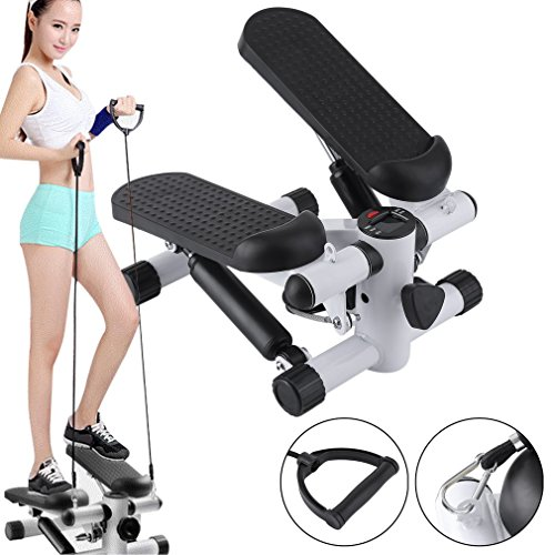 tepper Climber with Bands and LCD Display for Home Workout Gym -As Seen On TV (white) ()