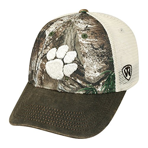 Logger Cap - Top of the World NCAA Clemson Tigers Logger Cap, One Size, Camo/Brown/Tan