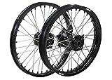 ProTrax Complete Wheel Rim Set Black Hub Front&Rear 21''&19'' FC250 FC450 '15-2017