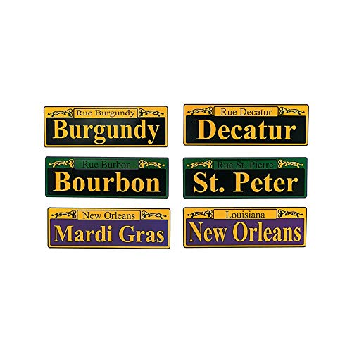 Fun Express Mardi Gras Street Signs - 6 Pieces -
