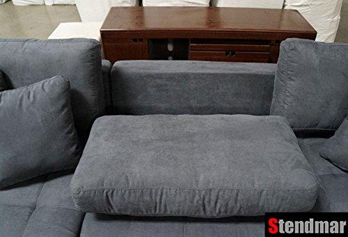 Beau Amazon.com: Modern Dark Grey Microfiber Fabric Sectional Sofa Set S168RD:  Kitchen U0026 Dining