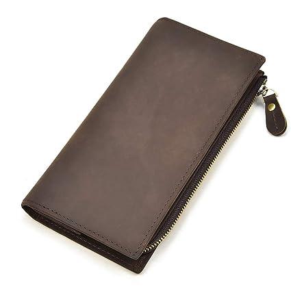 Amazon.com: Sunsamy Mens Passcase Wallet Mens Zipper Style ...