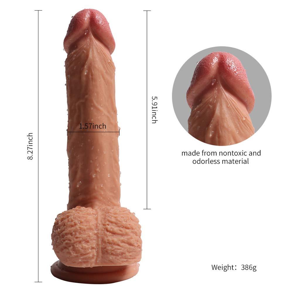 Consoladores realistas Masturbación Femenina Dildo 8 Pulgadas, Silicona De para Doble Capa Médica para De Principiantes para El Punto G Vaginal Y Juego Anal 5.91 Pulgadas, Carne 377665