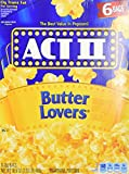 popcorn act 2 - ACT II Butter Lovers Microwave Popcorn 2 boxes - 6 full-size bags in each (12 bags all together)