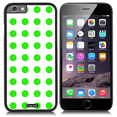 CocoZ® New Apple iPhone 6 s 4.7-inch Case Beautiful mint green Polka Dot pattern PC Material Case (Black PC & Polka Dot 24)