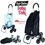 Trolley Dolly Stair Climber, Black Grocery Foldable Cart Condo Apartment