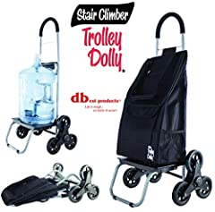 Stair Climber Trolley Dolly is the ideal Multi-Purpose hand truck to help you carry your groceries and other items up a flight of stair, curbs, sidewalks and other terrains. The Stair climber cart is collapsible for compact storage or it can ...