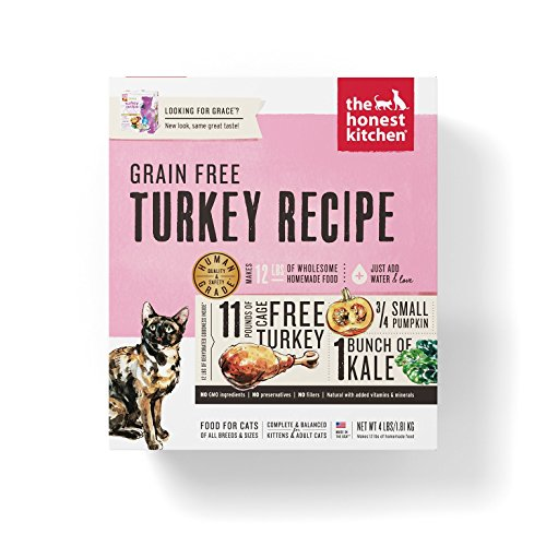 Honest Kitchen The Grain Free Turkey Cat Food Recipe, 4 lb box - Grace