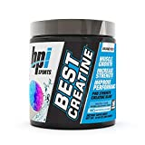 BPI Sports Best Creatine - Creatine Monohydrate, Himalayan Salt - strength, Pump, Endurance, Muscle Growth, Muscle Definition - No Bloat - Snow Cone - 50 servings - 10.58 Oz