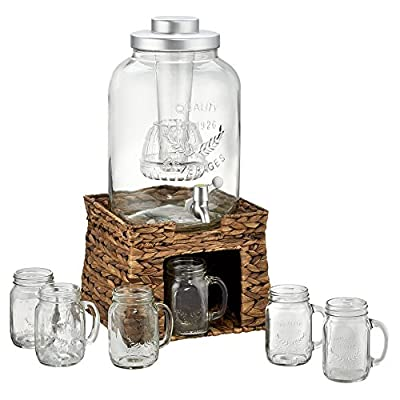 Artland Oasis Beverage Infusing Dispenser Jar Set with Stand