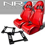 Pair of RS202PVCRD Racing Seats+Mounting Bracket for Jeep Wrangler JK