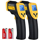 Etekcity Lasergrip 774 Non-Contact Digital Laser Infrared Thermometer Temperature Gun -58℉~ 716℉ (-50℃ ~ 380℃), Yellow and Black, 2 Pack